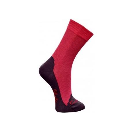 Chaussettes cachemire rose-Berthe aux grands pieds