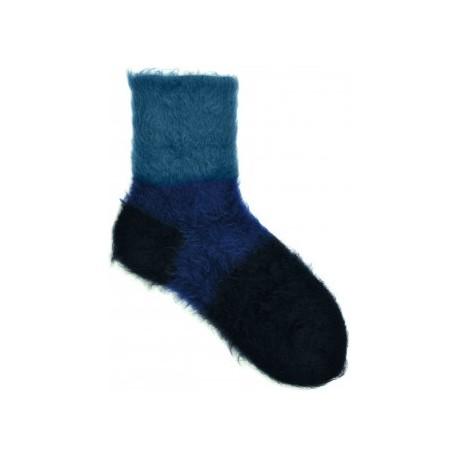 Chaussettes Poilu bleu-Berthe aux grands pieds