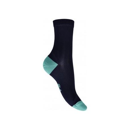 Chaussettes en soie marine-ciel-Berthe aux grands pieds