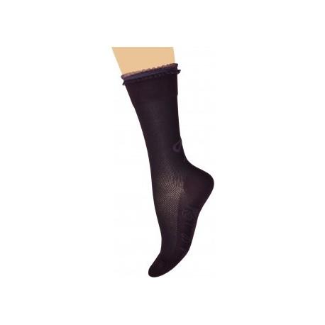Chaussettes Dentelle et mailles prune-Berthe aux grands pieds