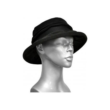 Chapeau en fil décosse anthracite-noir-Berthe aux grands pieds
