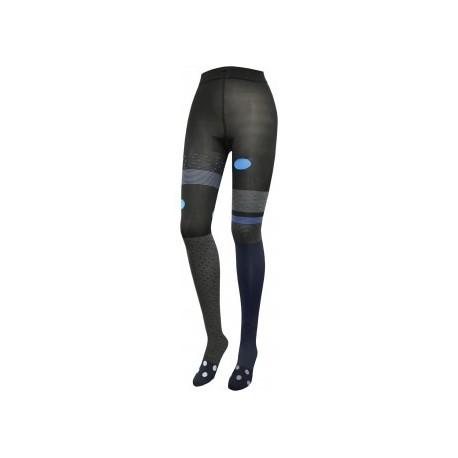 Collants Zinzin 1 noir-bleu-Berthe aux grands pieds