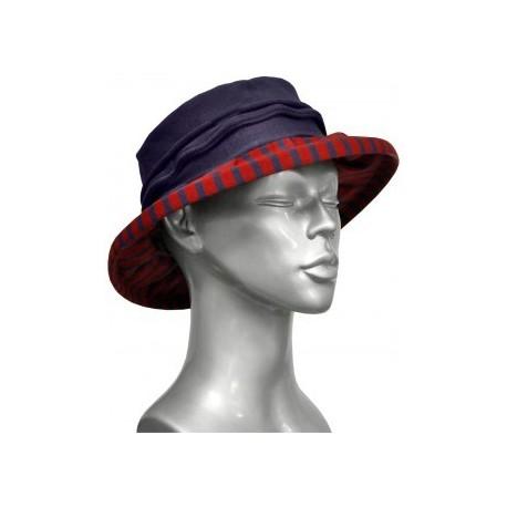 Chapeau en fil décosse rouge-raisin-Berthe aux grands pieds