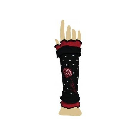 Mitaines Pivoines noir-Berthe aux grands pieds