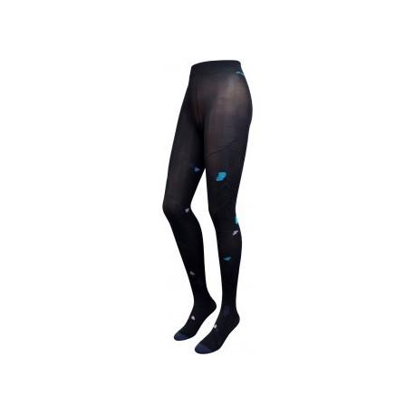 Collants Coquelicots noir-marine-Berthe aux grands pieds