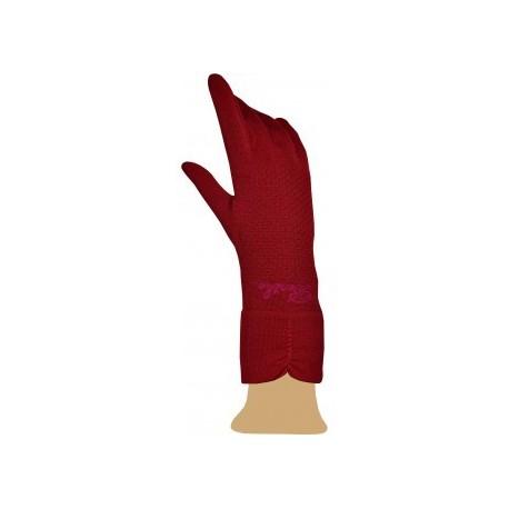 Gants en soie rouge-Berthe aux grands pieds