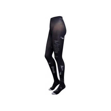 Collants Lente promenade noir-gris-Berthe aux grands pieds