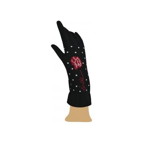 Gants Pivoines noir-Berthe aux grands pieds