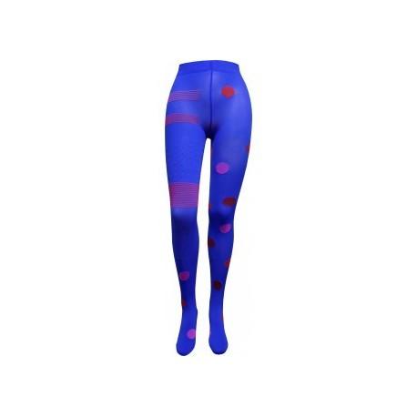 Collants asymétriques bleu rose - Berthe aux Grands Pieds
