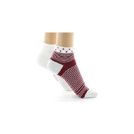 396 Coton fil d'Ecosse Lot de 2 paires de chaussettes courtes Perrin